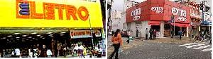 Dois momentos das lojas da rede Eletro e Extra Eletro – fonte Google imagens